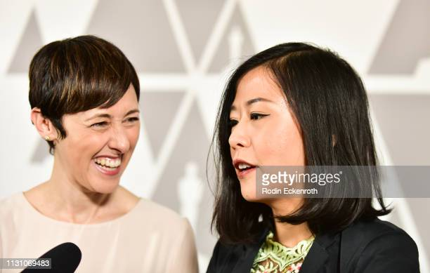 Becky NeimanCobb and Domee Shi attends the 91st Oscars Oscar Week Shorts at the Academy of Motion Picture Arts and Sciences on February 20 2019 in...