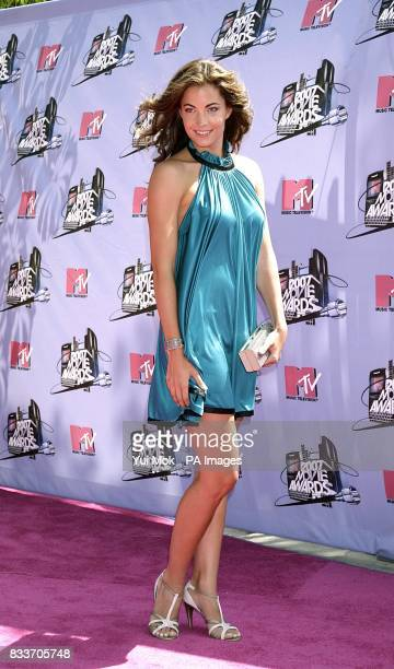 Becky O'Donohue arrives for the 2007 MTV Movie awards at the Gibson Amphitheatre Universal City Los Angeles