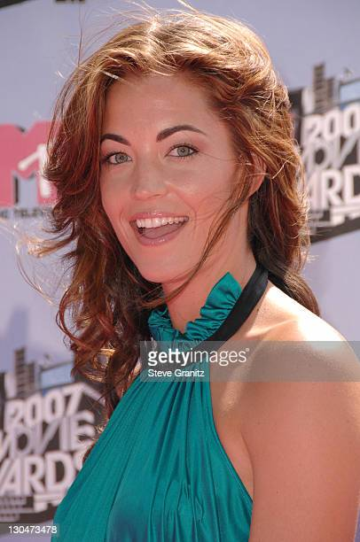 Becky O'Donohue during 2007 MTV Movie Awards Arrivals at Gibson Amphitheater in Universal City California United States