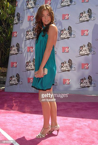 Becky O'Donohue during 2007 MTV Movie Awards Arrivals at Gibson Amphitheater in Los Angeles California United States