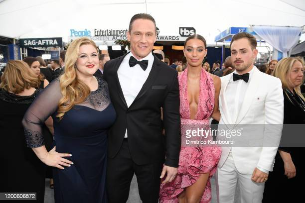 Becky Poliakoff Andrey Ivchenko Liv Pollock and Dacre Montgomery attend the 26th Annual Screen ActorsGuild Awards at The Shrine Auditorium on...