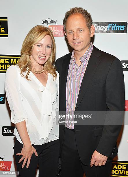 Becky Quick and director Rob Burnett attend 'We Made This Movie' World Premiere at School of Visual Arts Theater on September 20 2012 in New York City