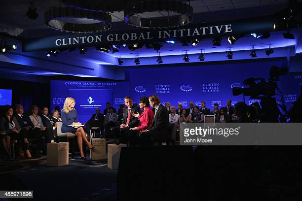 Becky Quick coanchor of Squawk Box on CNBC moderates a breakout session including Anthony Jenkins CEO of Barclays Penny Pritzker US Secretary of...