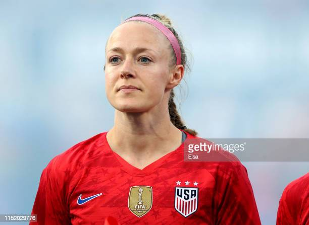 Becky Sauerbrunn of the United States stands on the field before the match against New Zealand at Busch Stadium on May 16, 2019 in St Louis, Missouri.