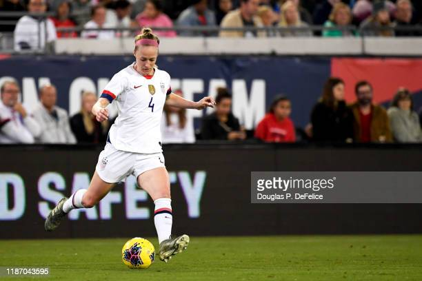 Becky Sauerbrunn of the U.S. Woman's national soccer team looks to kick the ball during the first half against the Costa Rica woman's national soccer...
