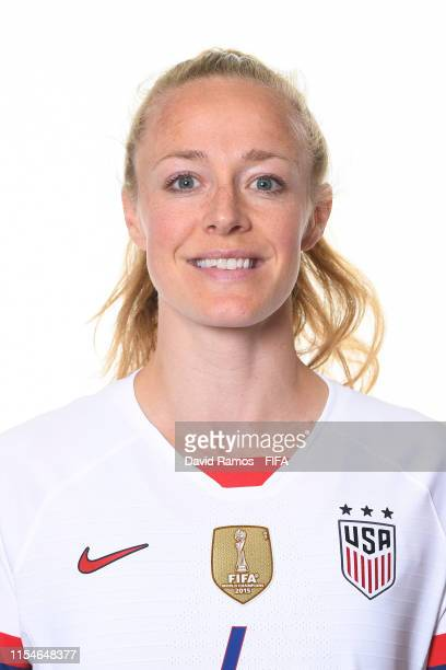 Becky Sauerbrunn of the USA poses for a portrait during the official FIFA Women's World Cup 2019 portrait session at Best Western Premier Hotel de la...