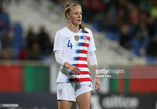 Becky Sauerbrunn of United States of America in action during the International Friendly match between Portugal and United States of America at...