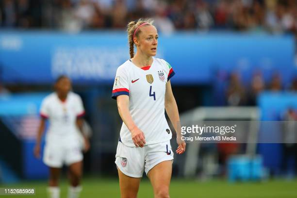 Becky Sauerbrunn of USA during the 2019 FIFA Women's World Cup France Quarter Final match between France and USA at Parc des Princes on June 28, 2019...