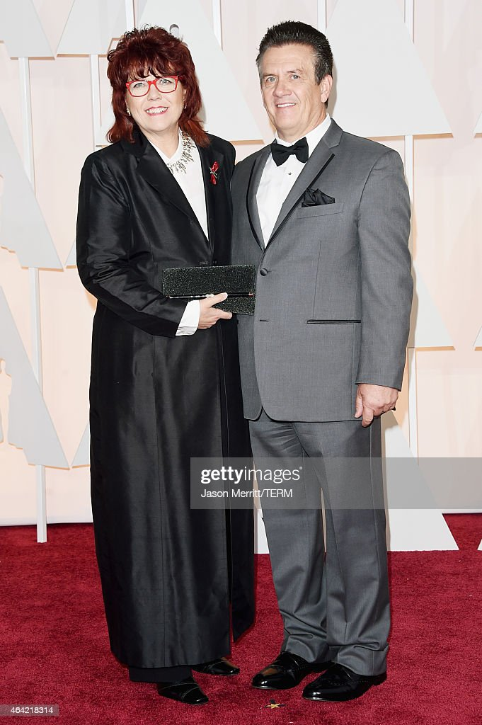 Becky Sullivan (L) attends the 87th Annual Academy Awards at Hollywood & Highland Center on February 22, 2015 in Hollywood, California.