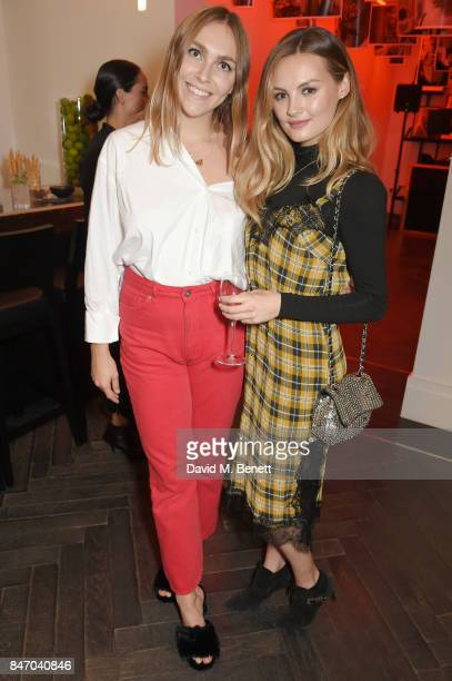 Becky Tong and Naomi Smart attend the Amanda Wakeley LFW Party on September 14 2017 in London England