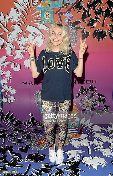 Becky Tong attends a rooftop party in Shoreditch London to celebrate the launch of Mary Katrantzou for adidas Originals Season 2 at Snap Studios on...