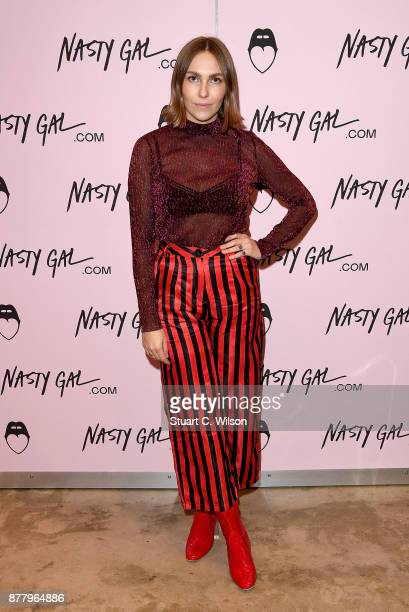 Becky Tong attends the Nasty Gal Pop Up Shop on Carnaby Street on November 23 2017 in London England