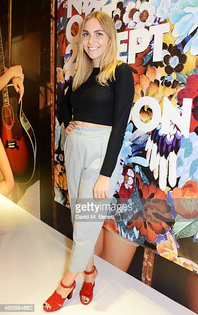 Becky Tong attends Vogue Fashion's Night Out London 2014 at Topshop Oxford Street on September 23 2014 in London England