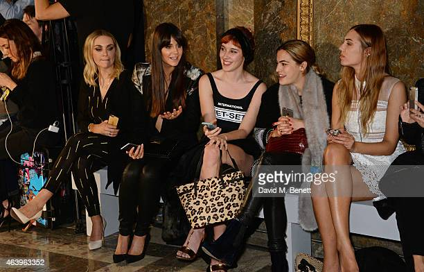 Becky Tong Lilah Parons Paula Goldstein Chelsea Leyland and Amber Le Bon attend the Sass Bide A/W Show during London Fashion Week Fall/Winter 2015/16...
