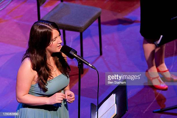 Becky Unthank of The Unthanks performs on stage at Leeds Town Hall on September 15 2011 in Leeds United Kingdom