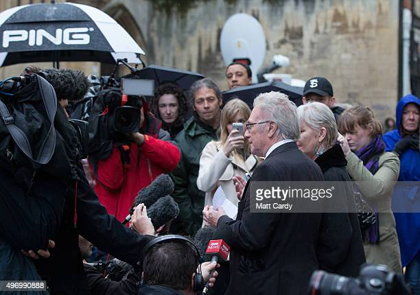 Becky Watts' grandfather, John Galsworthy, speaks to the media outside Bristol Crown Court on November 13, 2015 in Bristol, England. Nathan Matthews...