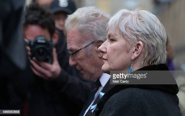 Becky Watts' step grandmother, Denise Galsworthy, speaks to the media outside Bristol Crown Court on November 13, 2015 in Bristol, England. Nathan...