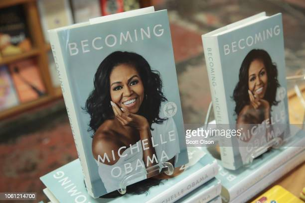 Becoming a book by former first lady Michelle Obama is displayed at the 57th Street Books bookstore on November 13 2018 in Chicago Illinois In the...