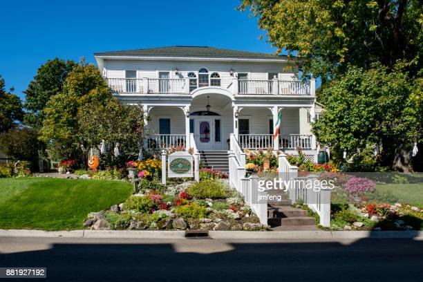 bed and breakfast at mackinac street - mackinac island stock pictures, royalty-free photos & images
