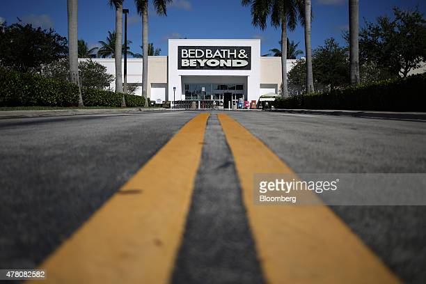 Bed Bath & Beyond Inc. Inc. Store stands in Fort Lauderdale, Florida, U.S., on Tuesday, June 16, 2015. Bed Bath & Beyond Inc. Is scheduled to release...