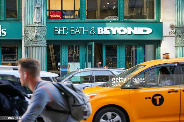 Bed Bath & Beyond logo seen at one of their branches. Bed Bath & Beyond has announced plans to permanently close about 200 stores over the next two...