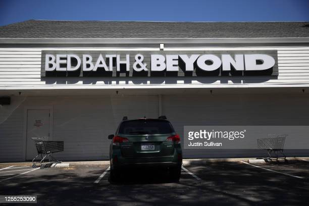 Bed Bath & Beyond store is seen on July 09, 2020 in Larkspur, California. Bed Bath & Beyond announced that it plans to close 200 of its retail stores...