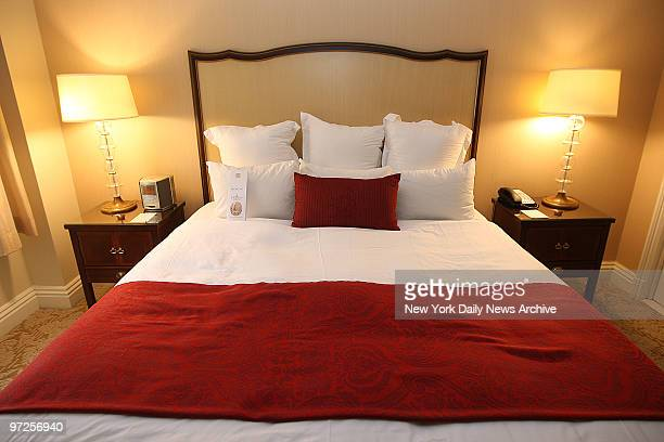 Bed in room 816 of The Mayflower hotel in Washington DC where Gov Eliot Spitzer had sex in room 871 with a $5000 dollar prostitute from New York...