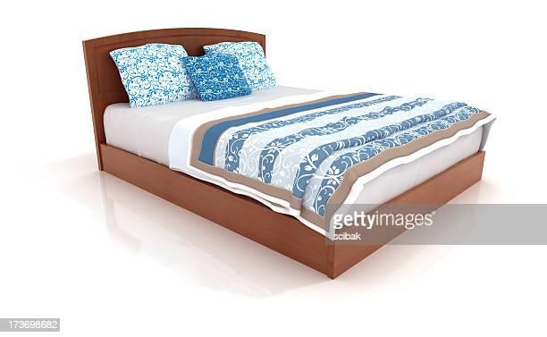 白で分離 3 ベッド