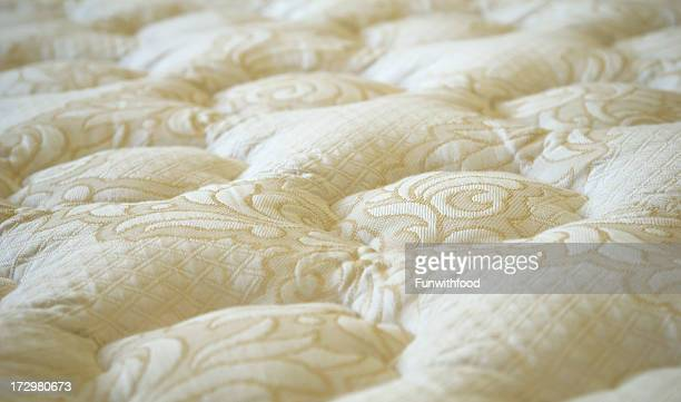 Bed Mattress or Sofa Furniture White Textile Background
