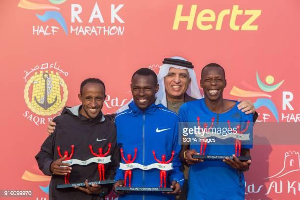 Bedan Karoki from Kenya won the RAK Half Marathon in a time of 5842 Jemal Yimer was second and Alex Kibet was third His Highness Sheikh Saud Bin Saqr...