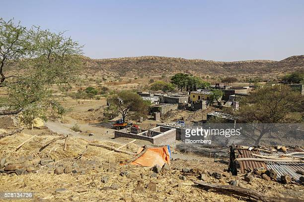 Bedarwadi village stands surrounded by dried-up fields in Beed district, Maharashtra, India, on Friday, April 15, 2016. Hundreds of millions of...