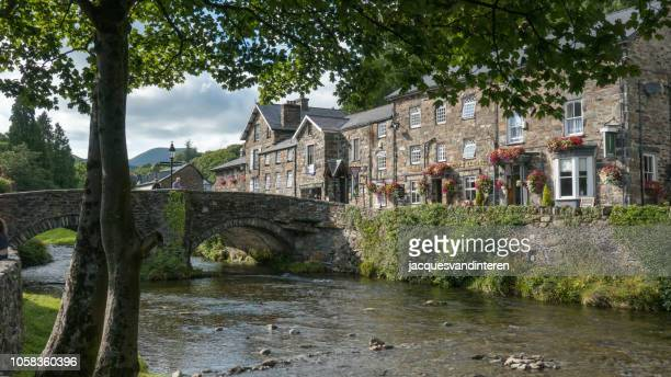 beddgelert in wales, united kingdom - gwynedd stock photos and pictures