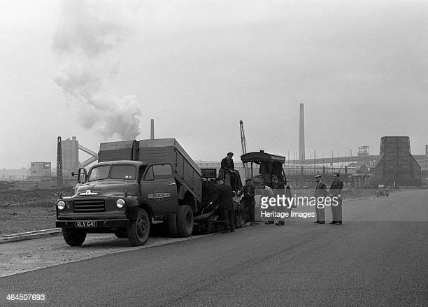 A Bedford A3S tipper on the site of Manvers coal prep plant South Yorkshire 1955 The vehicle registration number RLV 651 belonged to Henry Boot...