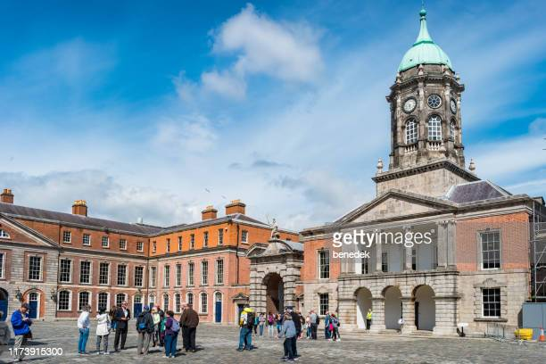 bedford hall and tower at dublin castle ireland - dublin castle dublin stock pictures, royalty-free photos & images