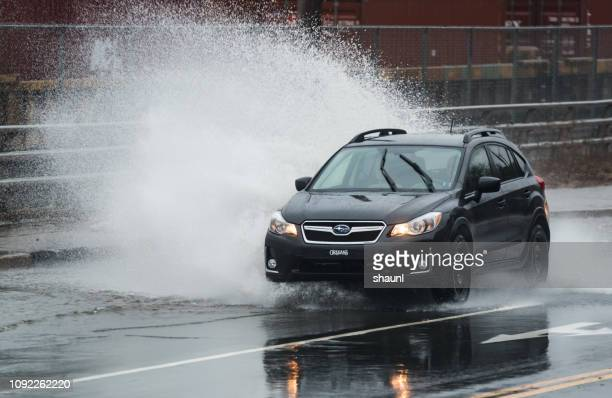 bedford highway flooding - pioggia forte foto e immagini stock