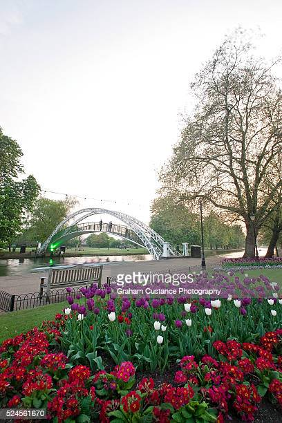 bedford in bloom - ouse river stock photos and pictures
