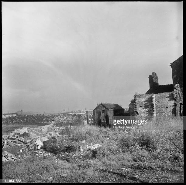 Bedford Street Shelton StokeonTrent 19651968 A view looking northeast from the west end of Bedford Street showing the partially demolished houses of...
