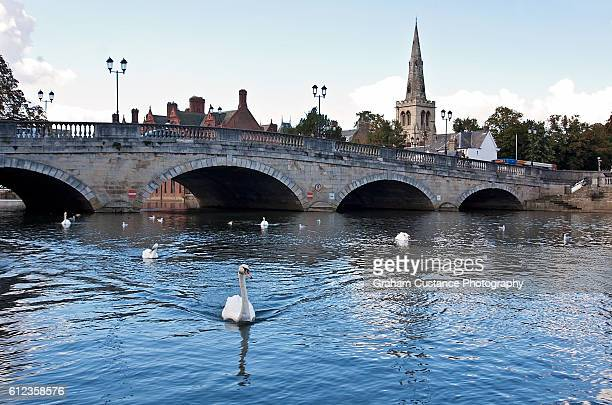 bedford town bridge - bedford england stock photos and pictures