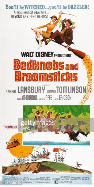 Bedknobs And Broomsticks poster top lr Angela Lansbury David Tomlinson inset David Tomlinson 1971