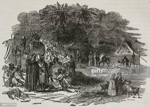Bedouin camp Africa illustration from Teatro universale Raccolta enciclopedica e scenografica No 360 May 29 1841