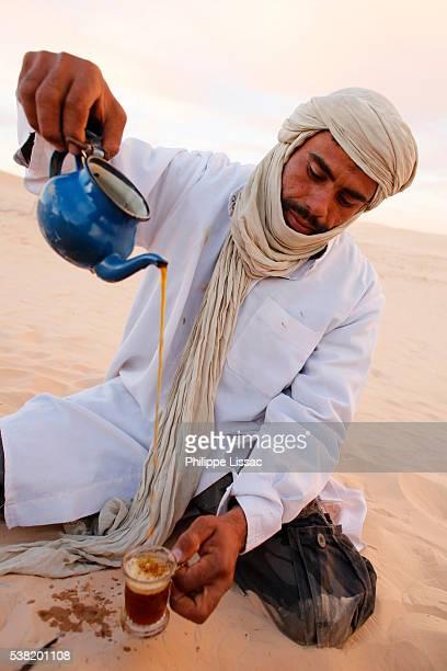 Bedouin making tea in the Sahara