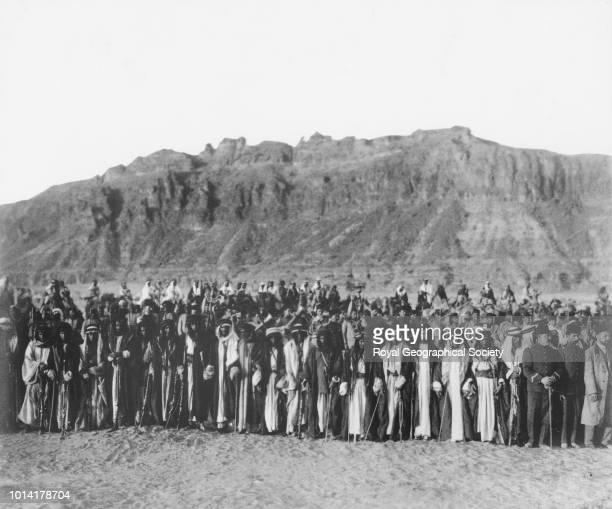 Bedouin tribe Sheikhs Principal Bedouin sheikhs of the Beni Sakh the El Fakir the Roala the Wulid Ali the Huweitat other tribes Saudi Arabia 1909