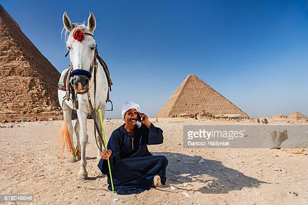 Bedouin using phone