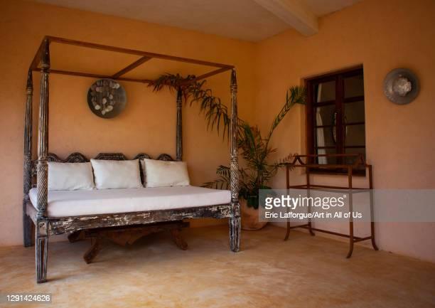 Bedromm in Stairs in a swahili house, Lamu County, Lamu, Kenya on March 1, 2011 in Lamu, Kenya.