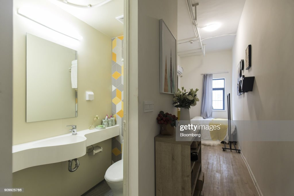 Bedroom And Bathroom Facilities Are Seen Inside A Unit At China Vanke Co.u0027s