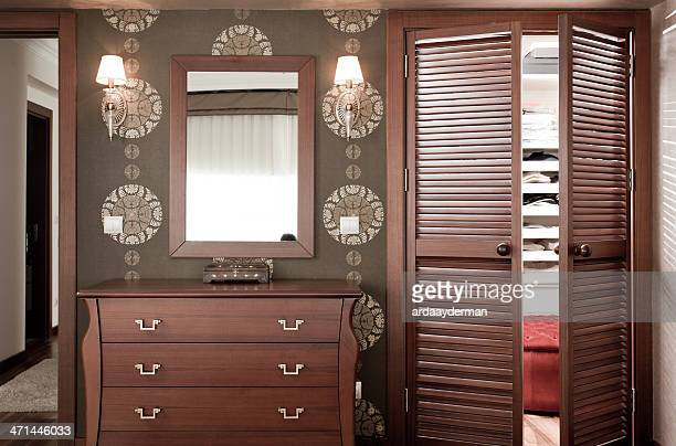 bedroom and dressing room