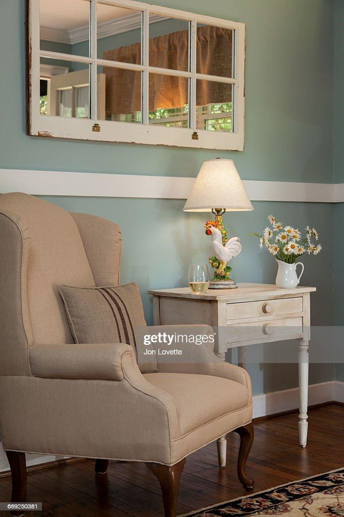 Bedroom chair nook : Stock Photo