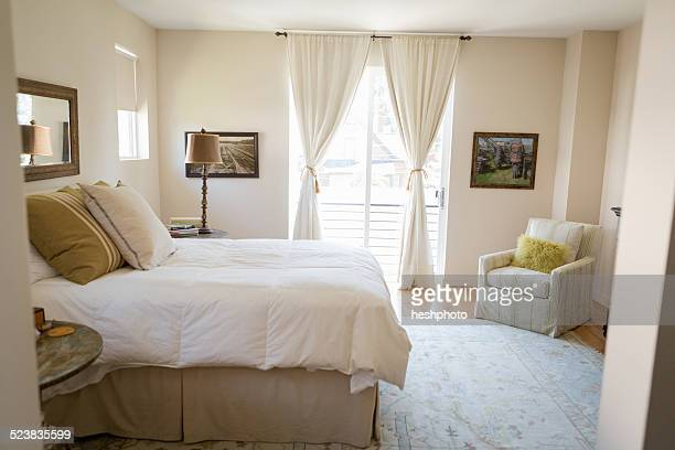 bedroom cleaned with green cleaning products - heshphoto stock pictures, royalty-free photos & images