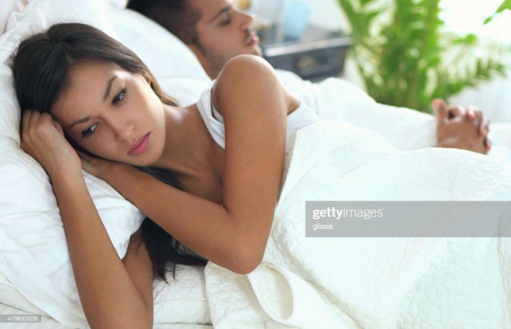 Bedroom drama. : Stock Photo