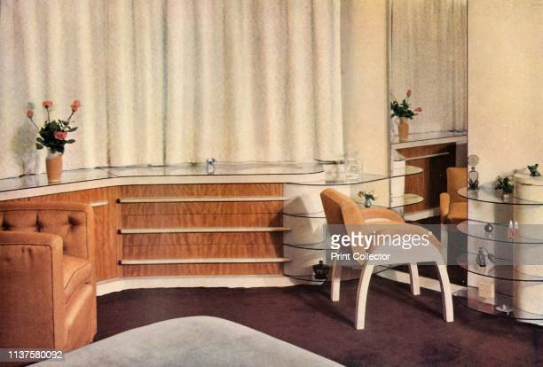 Bedroom in a small house at Hampstead, London, designed by J. Duncan Miller and carried out by Duncan Miller Ltd., for Mrs. Schneerson', 1937. From...